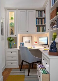 Beautiful home office nook.
