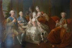 The family of the Duke of Penthièvre called la tasse de chocolat, 1768, artist Jean-Baptiste Charpentier le Vieux (French, 1728-1806), Palace of Versailles http://en.chateauversailles.fr/homepage