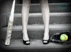 Softball Senior Picture. Kate Thornton Photography