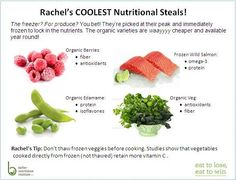 """Don't slave away in the kitchen— chill out this weekend and save big bucks by picking up some of Rachel's favorite """"frozen assets"""""""