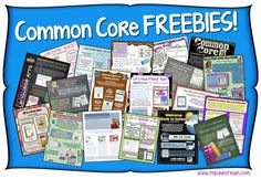 Who needs Common Core resources? Click to grab tons of freebies!