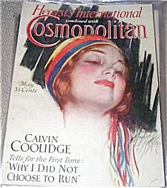 $74 Flapper Lady, Art Deco cover, Vintage Cosmopolitan Magazine Harrison Fisher cover May 1929