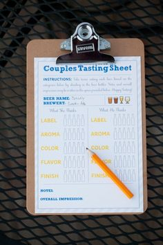 Beer Tasting Party... doing this!