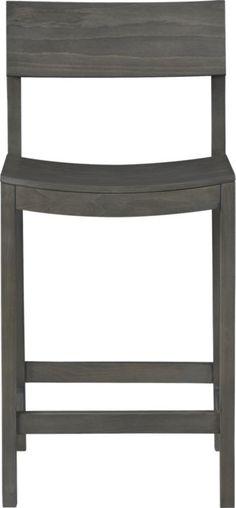 "slide grey 24"" counter stool  | CB2"