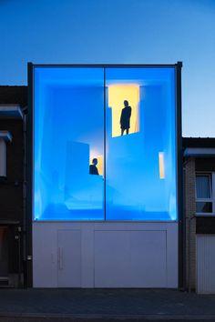 The narrow house by Bassam El Okeily in Bilzen, Belgium