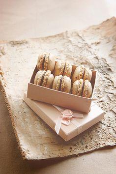 Coffee Macarons with Ganache Cream.