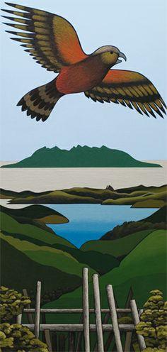 zealand artist, don binney, nativ bird, imag homag, artist nz, paint stuff, nz artist