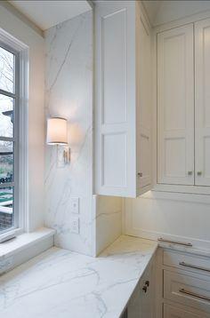 Marble Backsplash. White Marble Kitchen Backsplash. #Marble #Kitchen #Backsplash