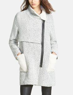 Crushing on this city chic wool coat.