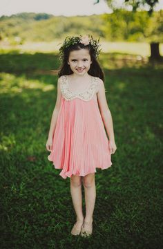 boho flower girl, photo by Ariel Renae http://ruffledblog.com/peach-and-gold-georgia-wedding #flowergirls #wedding