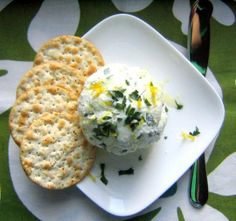 Easy Appetizer: Goat Cheese with Parsley and Lemon