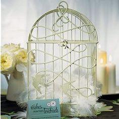white birdcage wedding table decoration