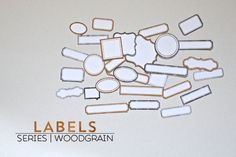 Free Print & Cut Woodgrain labels for your Silhouette!