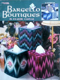 Plastic Canvas Crafts | ... BOUTIQUES - Tissue Box Covers - Plastic Canvas Pattern Craft BOOK