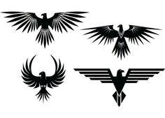 Eagle tattoos, eagles represent the heaven's