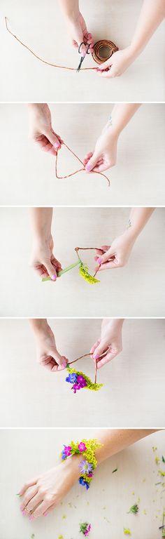 How to Make a Geometric DIY Flower Bracelet