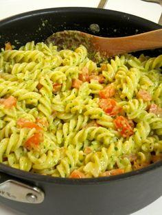 Pasta with Pesto Cream Sauce