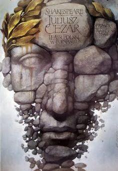 Polish Theater Poster for Julius Caesar