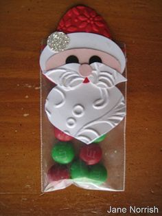 Adorable textured Santa made with Stampin' Up! punches