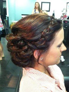 bridesmaid hair, hairstyl
