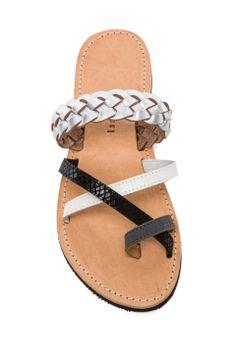 isapera Cyclamen Sandal in Silver