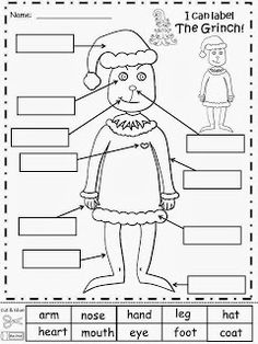 Free: Label The Grinch!  FREEBIE For A Teacher From A Teacher! fairytalesandfictionby2.blogspot.com