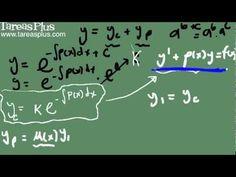 Ecuación lineal de primer orden (teoría método de solución)