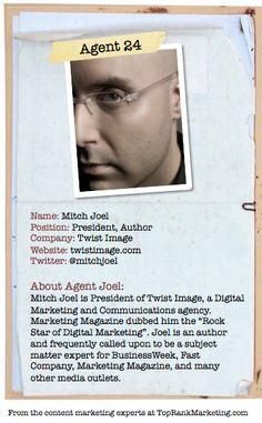 Bio for Secret Agent #24 @mitchjoel  to see his content marketing secret visit tprk.us/cmsecrets