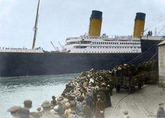 Beautifully Colorized Photos Of The Titanic histori, anniversary, photographs, colors, black white, rms titanic, ships, old photos, medium