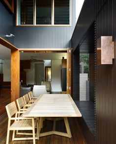 Browne Street House, New Farm Australia by Shaun Lockyer Architects. Outdoor Room