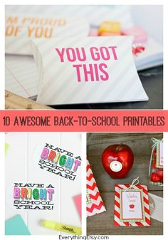 10 Awesome Back-to-School Printables - EverythingEtsy.com #backtoschool