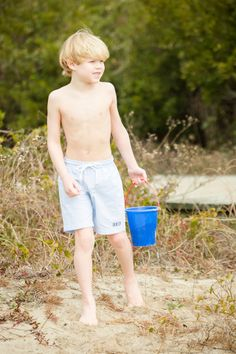Monogrammed boys bathing suit by Crescent Moon Children.