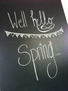 chalkboard spring!  or Easter chalkboard