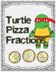 Turtle Ninjas Pizza Fractions (Add/subtract fractions with