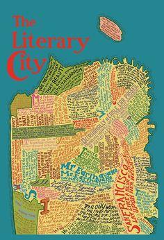 literari map, favorit place, literari citi, jigsaw map, maps