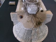 Angel made from an old Hymn Book!