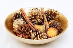 pine cone potpourri (pronounced pot-poor-y)