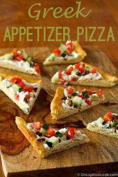 Greek Veggie Pizza