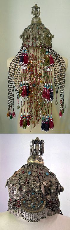 Central Asia | Turkoman Afghanistan Wedding Headdress | 6,125$
