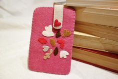 SALE  Hot Pink Felt iPhone Case. Floral Applique by NariDesignPot, $31.00