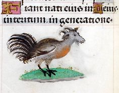 BEWARE THE GOATROOSTER!!!  'Hours of Joanna the Mad', Bruges 1486-1506.  BL, Add 18852, fol. 94v