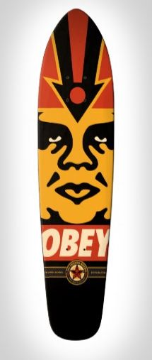 OBEY Logo Deck Skateboard Deck - Cali 70's flashback shape with a pointed nose and tapered tail. #skate