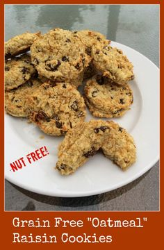Not Oatmeal Raisin Cookies (Grain Free, Dairy Free, Nut Free) - Gutsy By Nature