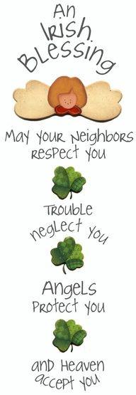 Irish blessing @Gretchen Schaefer Schaefer Schaefer Klotz