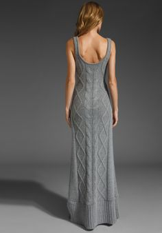 Elegant cable dress.  SPRING & CLIFTON Snowden Cableknit Maxi in Heather Gray at Revolve Clothing