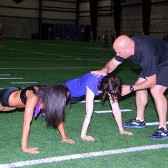 The NFL Cheerleader Workout - trying to keep the back straight ;)