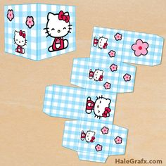 Click here to download FREE Printable Hello Kitty Treat Boxes!