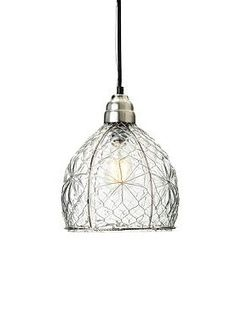 At home above your bar or in small space, the Wire Mesh Pendant adds contemporary character and light to any room.