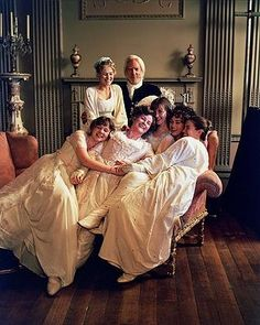 Promotional shoot Bennet family, Pride and Prejudice