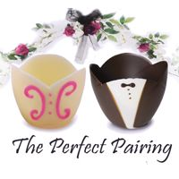 Chocolate Cups from Kane Candy. The perfect chocolate wedding desserts!  www.KaneCandy.com